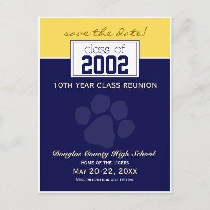 Class Reunion Save-the-Date Announcements (blue)