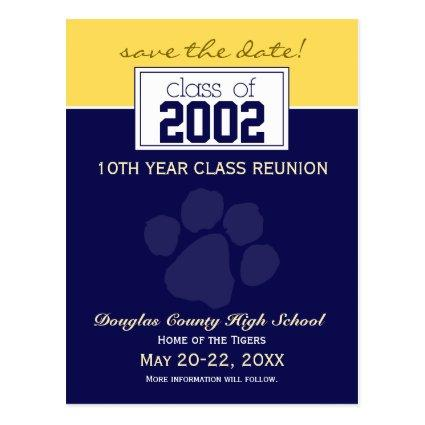 Class Reunion Save-the-Date Announcements (blue) Cards