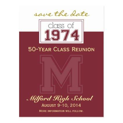 Class Reunion Save-the-Date Announcement (custom)