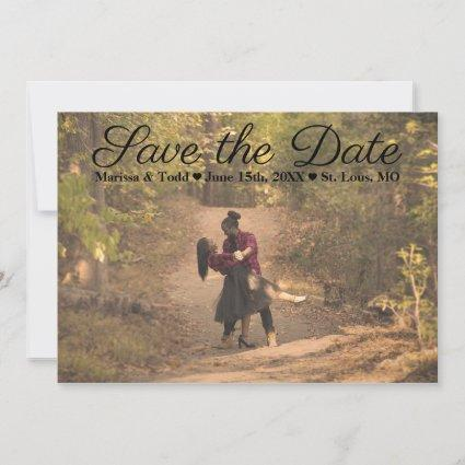 Classic Double-Sided Photo Save the Date