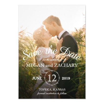 Classic Photo Wedding Save the Date Custom Magnetic Invitation