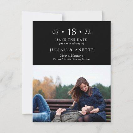 Classy Elegance Save the Date Photo Card
