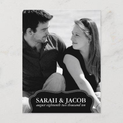Classy Framed Photo Save the Date Post