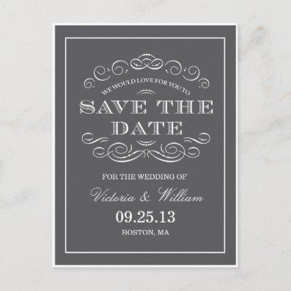 CLASSY WEDDING    SAVE THE DATE ANNOUNCEMENT