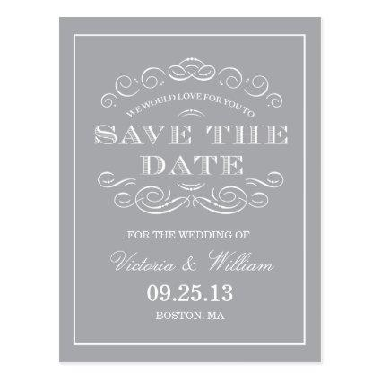 CLASSY WEDDING  | SAVE THE DATE ANNOUNCEMENT