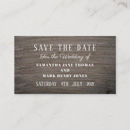 Clay Slab Effect, Save the Date Enclosure Card