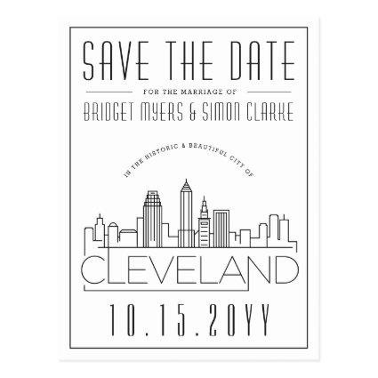 Cleveland Wedding | Stylized Skyline