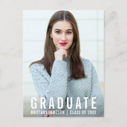 College Graduation Modern Photo Announcements