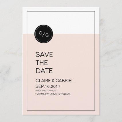 Color editable minimalist modern save the date