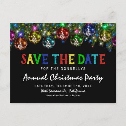 Colorful Christmas Party Save the Date Announcement