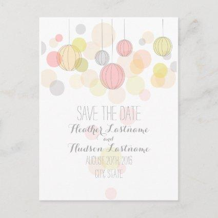 Colorful Lanterns Garden Wedding Save The Date Announcement
