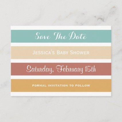 Colorful Pastel Stripes Save the Date