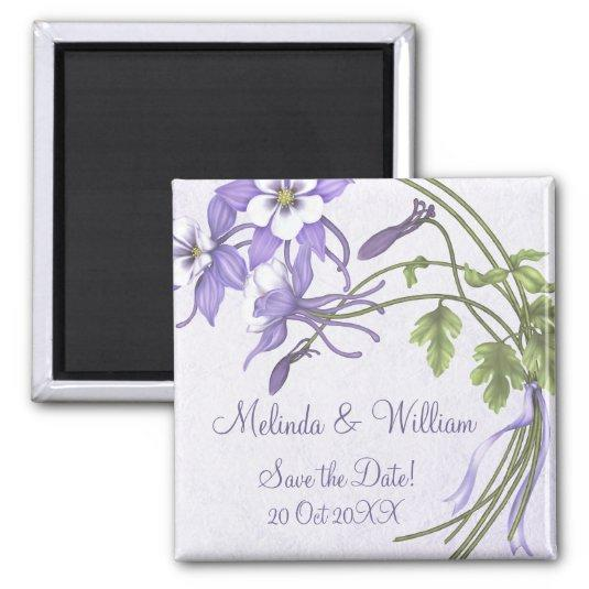 Columbine Bouquet Magnet ~ Save the Date