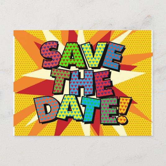 Comic Book Pop Art SAVE THE DATE Announcement