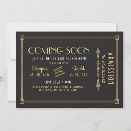 Coming Soon Baby Shower Movie Ticket Party Save The Date