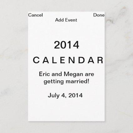 Computer page save the date