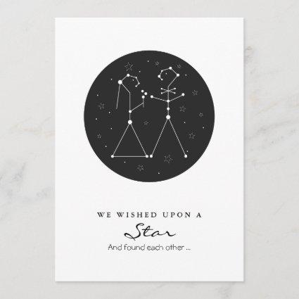 Constellation Bride and Groom Save the Date