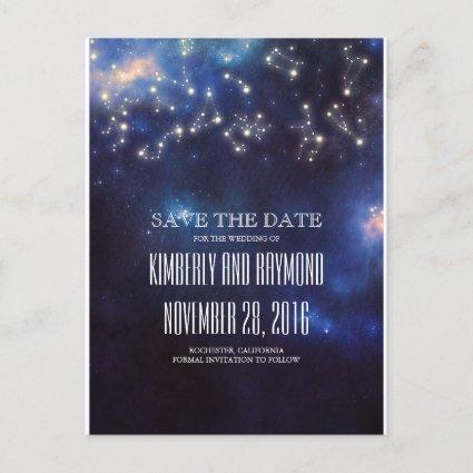 Constellation Starry Night Sky Save the Date Announcement