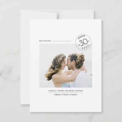Contemporary Clean Minimalist Save the Date Photo