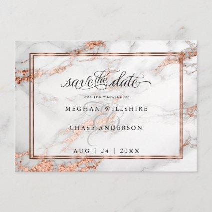 Copper and Marble Wedding Bold Elegance Save The Date