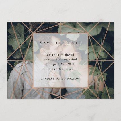 Copper Geo | Photo Save the Date
