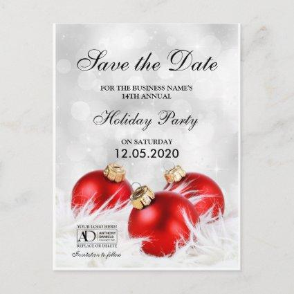 Corporate Christmas Or Holiday Party Save The Date Announcement