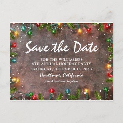 Corporate Holiday Party Save the Date Invitation