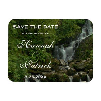 Country Nature Mountain Waterfall Save The Date Magnet