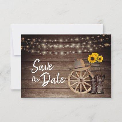 Country Wood Barrel - Save The Date