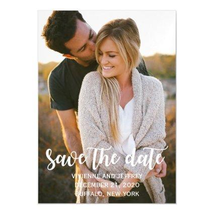 Couple Wedding Photo Save the Date Magnetic Invitation