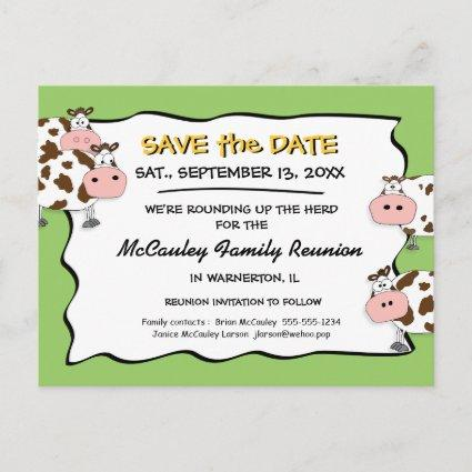 Cowdacious Apple Green Fam Reunion Save the Date Announcement