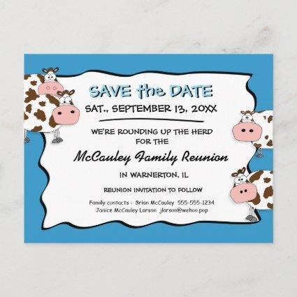 Cowdacious Big Sky Blue Fam Reunion Save the Date Announcement
