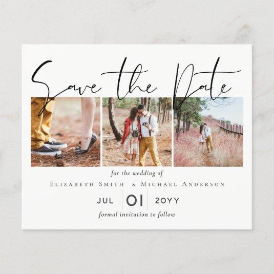 Create Own Engagement Photo SAVE the DATE Template