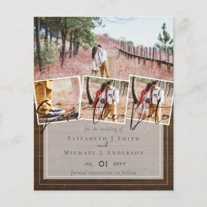 Create Own Modern Save the Date Wedding
