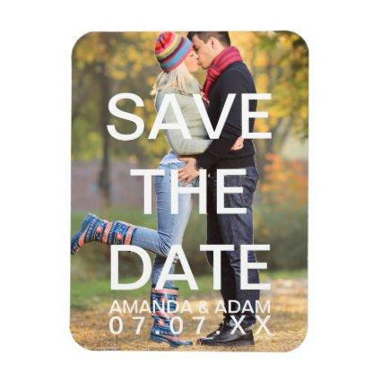 Create Your Own Modern Photo Save the Date Magnets