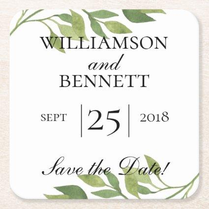 Create your own thank you coaster, save the date square paper coaster