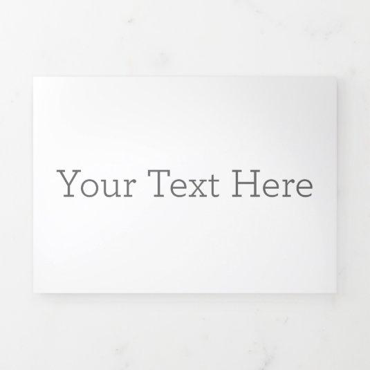 Create Your Own Trifold Letter Fold Invitation