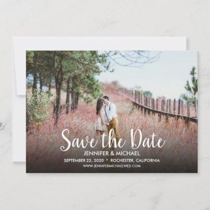 Create your own wedding Save the Date photo