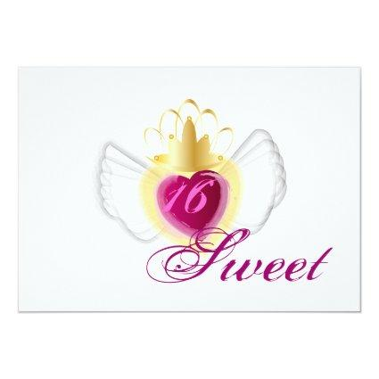 Crowned Soul Sweet Sixteen Invitation-Cust. Cards