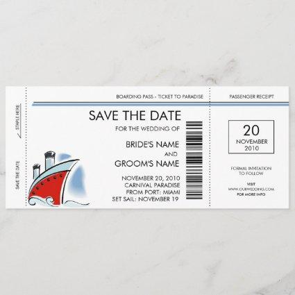 Cruise Ship Save the Date Invitations