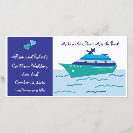 Cruise Ship Save the Date Photo