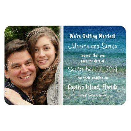 Crystal Water Save the Date Large Magnets