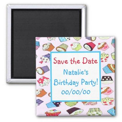 Cupcakes Save-the-Date Magnet