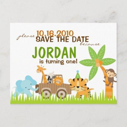 Custom Animal Safari Save The Date Announcement