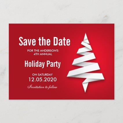 Custom Christmas Holiday Party Save The Date