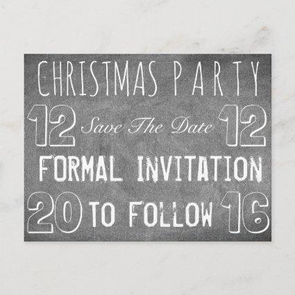 Custom Christmas Party Save The Date Chalkboard Announcements Cards