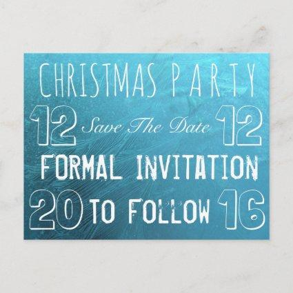Custom Christmas Party Save The Date Frozen Ice Announcements Cards
