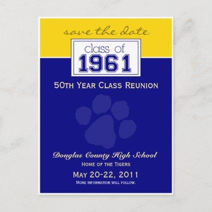 :custom Class Reunion Save-the-Date Announcement