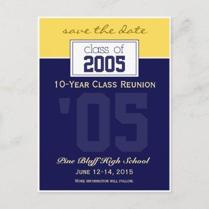 Custom Class Reunion Save-the-Date Announcements