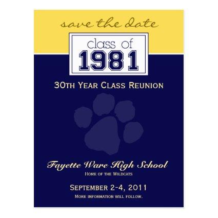 :custom Class Reunion Save-the-Date Announcement 2